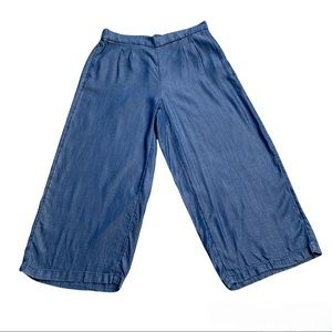 Apt 9 Blue Wide Leg Capri Pull On Culotte Pant - NEW WITH TAGS